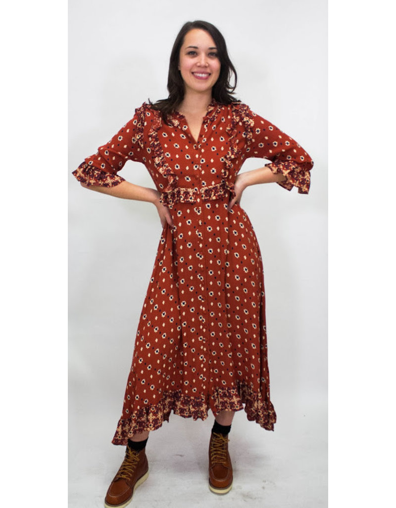 Free People Calico Skies Maxi Dress
