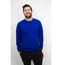 Scotch & Soda Cobalt Blue Cashmere Blend Sweater