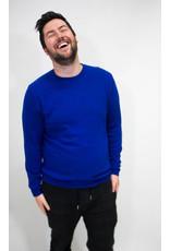 Scotch & Soda Cobalt Blue Cashmere Blend Sweater