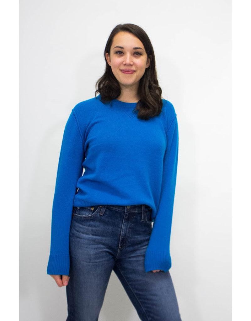 525 America Electric Teal Cashmere Sweater