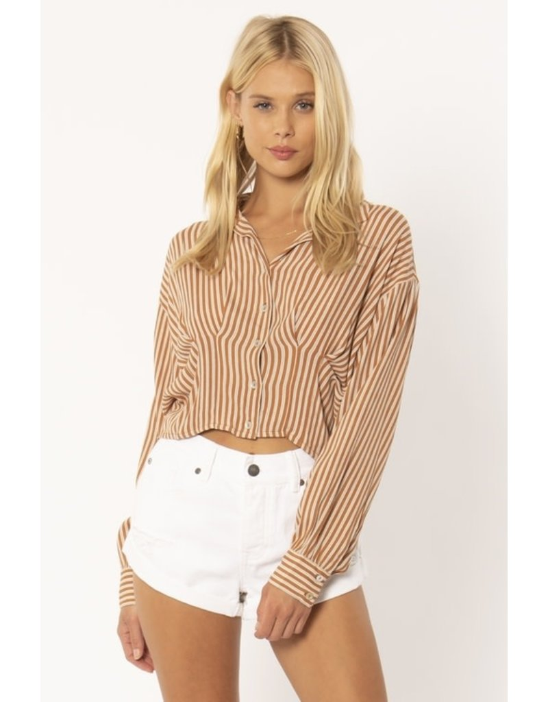 Amuse Society Kala Striped Button Up