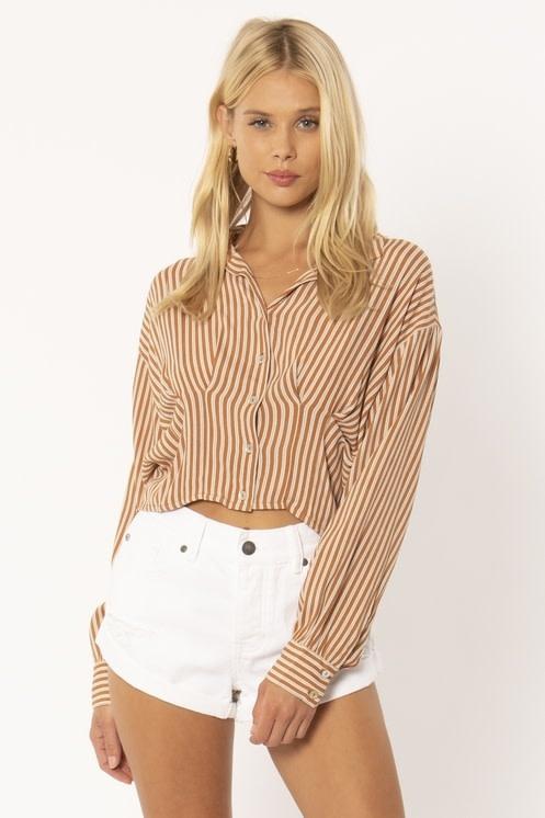 Amuse Society Kala Striped Button Up