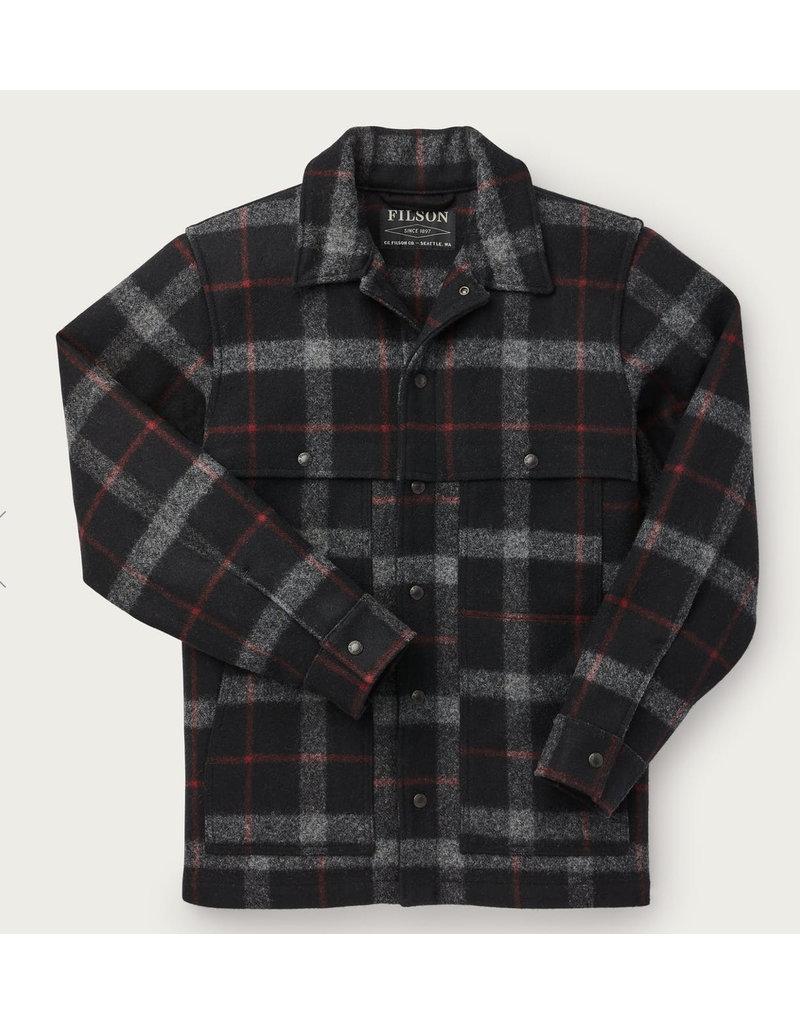 Filson Plaid Unlined Wool Cape Coat