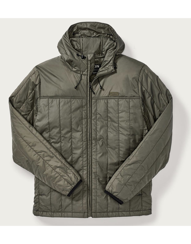 Filson Ultra Light Hooded Jacket Olive Gray