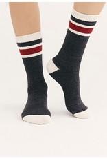 Free People Black Quincy Cozy Stipe Sock