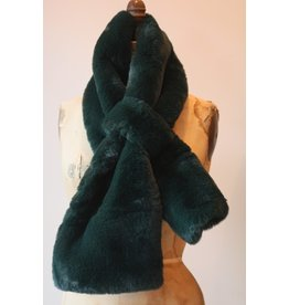 Apparis Luna Emerald Faux Fur Scarf