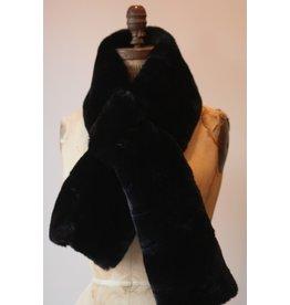 Apparis Luna Noir faux Fur Scarf