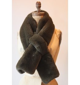 Apparis Luna Army Green Faux Fur Scarf