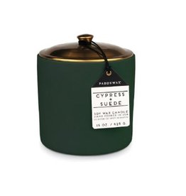 Paddywax Hygge Candle 15 OZ Cypress + Suede