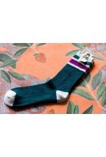 Free People Green Quincy Cozy Stripe socks