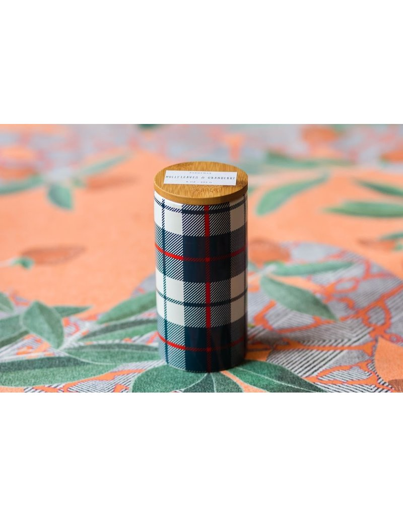 Paddywax Tartan 9 0z. Holly Leaves & Cranberry