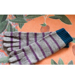 Knit Bonbons Lambswool Stripe Glove Lavender Multi