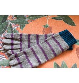 Knit Bonbons Lambswool Stripe Glove Lavender Multi
