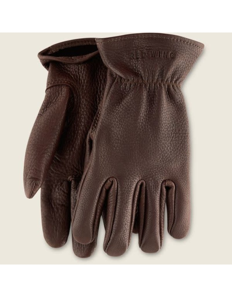 Redwing Heritage Unlined Buckskin Leather Glove Style 95235