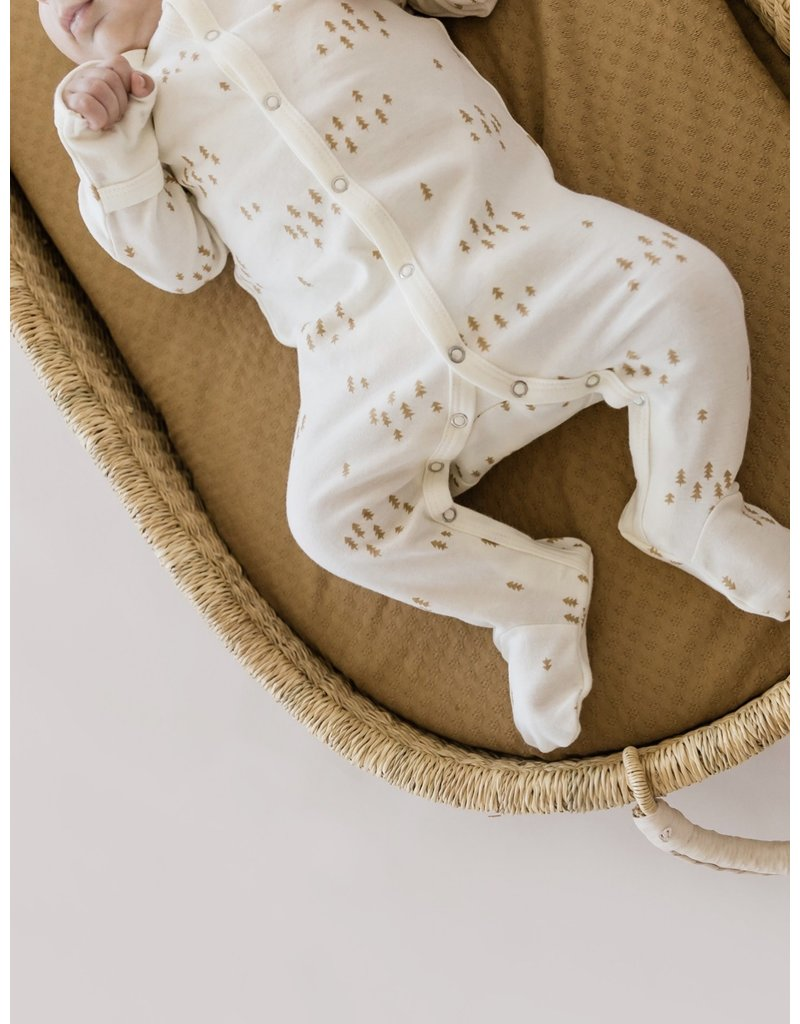 Quincy Mae Full Snap Ivory Footie