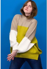 Free People Easy Street Color Block Sweater