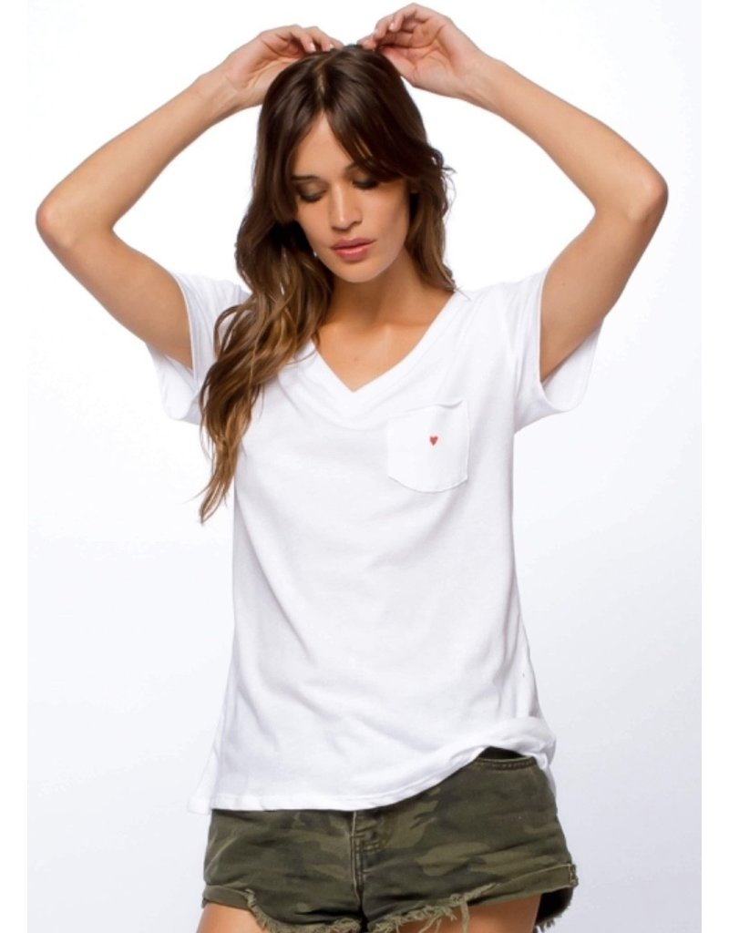 Sub_Urban Riot Embroidered Heart White Tee