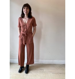 FRNCH Woven Brick Jumpsuit