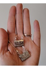 Wybo Vintage Silver Letter Necklace