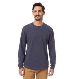 Alternative Apparel Long-Sleeve Hemp-Blend Tee Blue