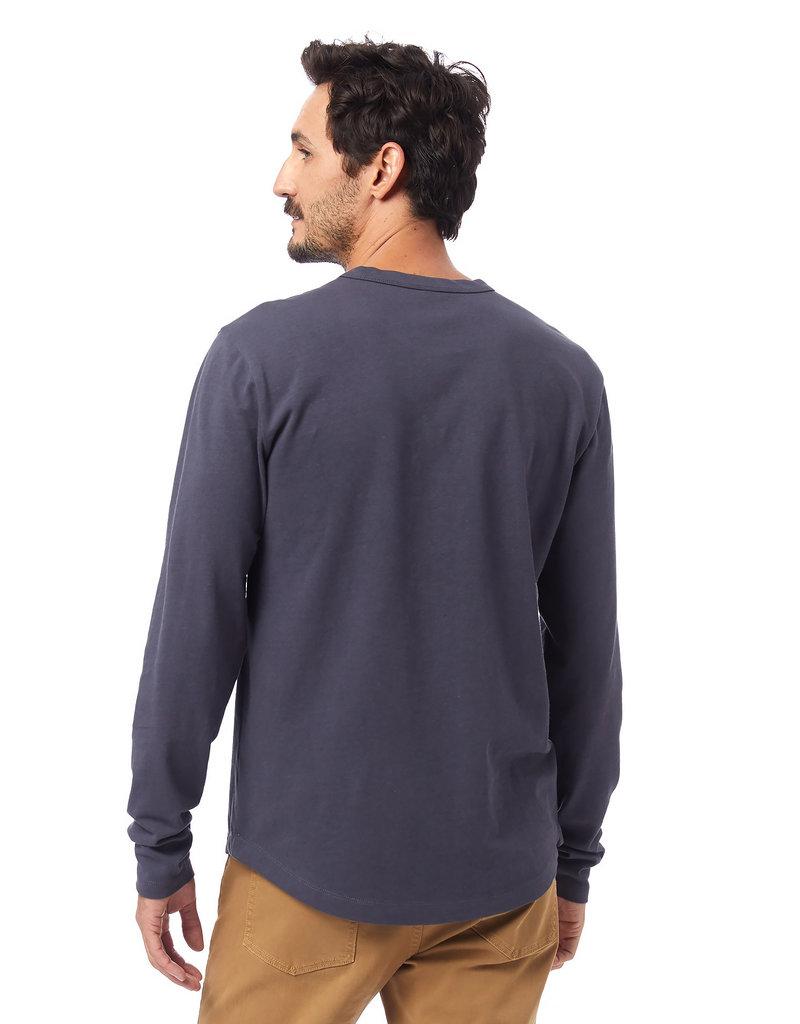 Alternative Apparel Long-Sleeve Hemp-Blend Tee Blue
