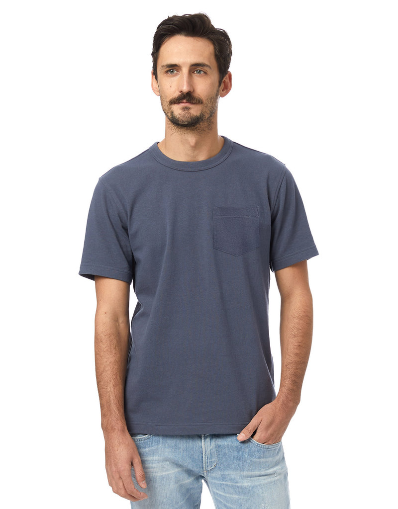 Alternative Apparel Recycled Cotton Tee Blue