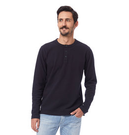 Alternative Apparel Recycled Cotton Henley Black