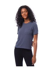Alternative Apparel Recycled Cropped Pocket Tee Blue