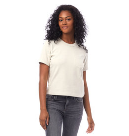 Alternative Apparel Recycled Cropped Pocket Tee Ecru