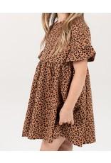 Rylee and Cru Kid Cheetah Babydoll Dress