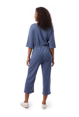 Alternative Apparel Piper Jumpsuit in Bay Blue Pin Dot