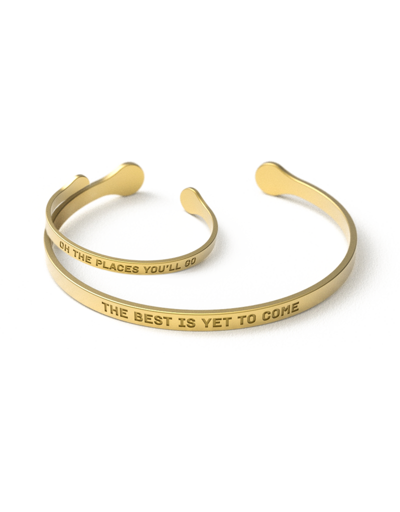 Bijou Mommy The Best Is Yet To Come, Oh The Places You'll Go Bracelet Set