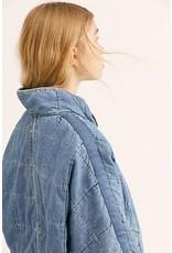 Free People Dolman Quilted Denim Jacket