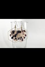 Grey Theory Mill TortoiseShell Monstera Earrings (blonde tortoise)