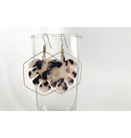 Grey Theory Mill TortoiseShell Monstera Earrings (blonde tortoise)