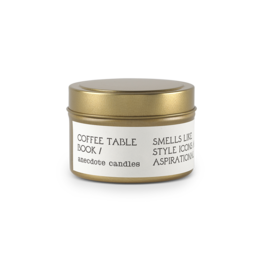 Anecdote Candles Coffee Table Book Tin 3.4 Oz