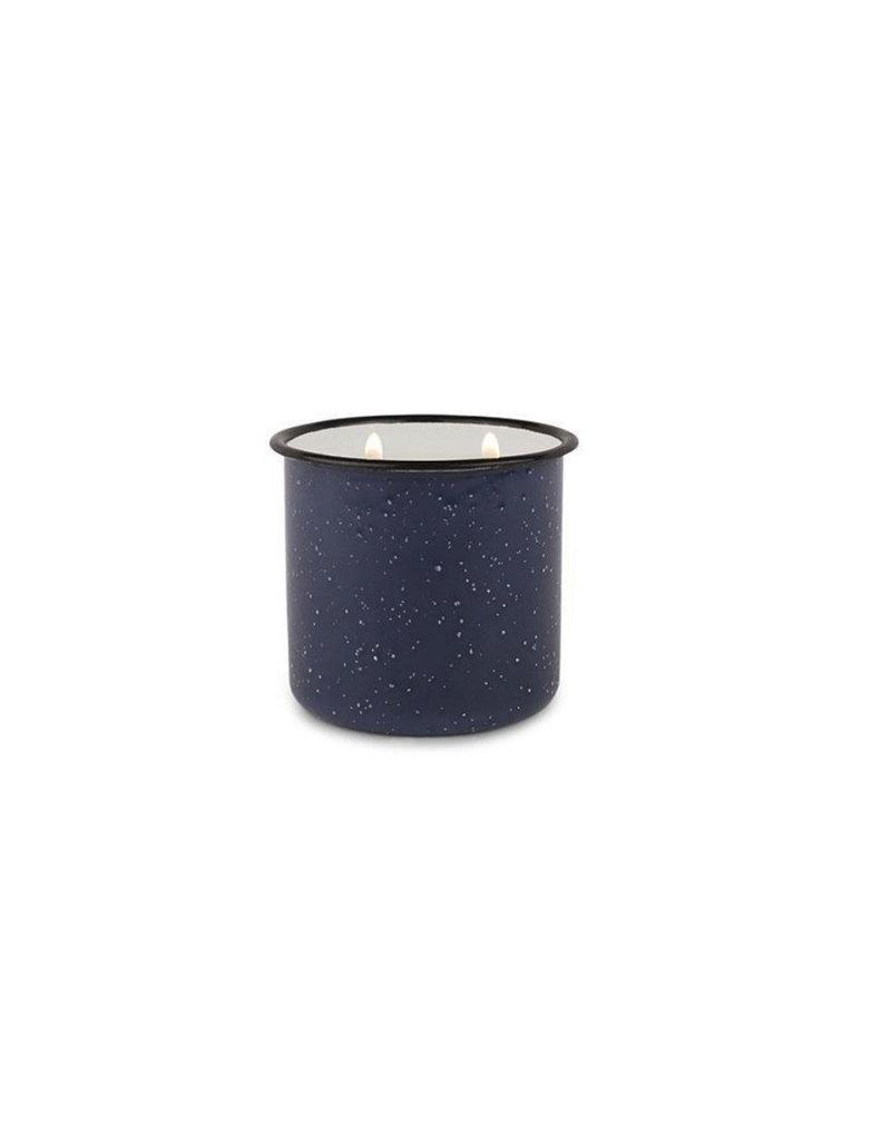 Paddywax Alpine Enamelware Candle 9.5 OZ Driftwood & Indigo