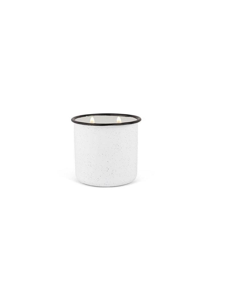 Paddywax Alpine Enamelware Candle 9.5 OZ Whitewood & Mint