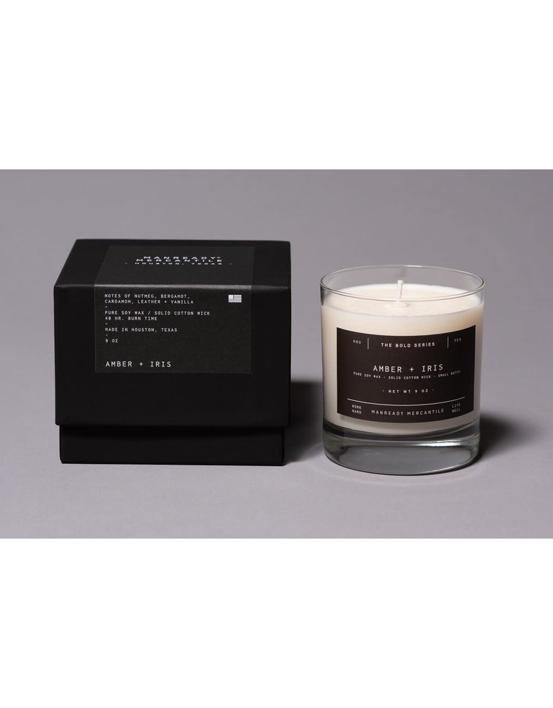 Manready Mercantile Bold Series Soy Candle Amber + Iris 9 oz