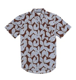 Modern Liberation Blue Leaf Brown Shirt