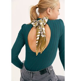 Free People Party In The Back Green Top