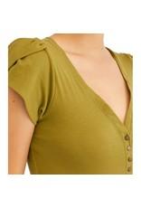 Free People MIA Green Bodysuit