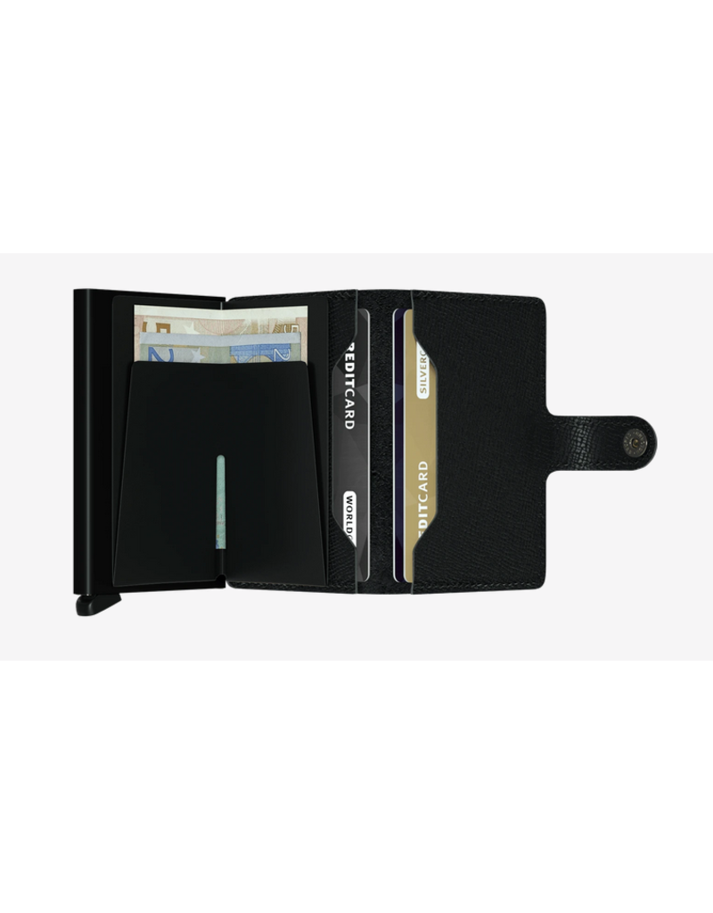 Secrid Secrid Miniwallet - Specialty Leather Crisple Black