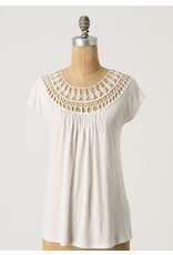 jennifer detrich smith Lace Tracings Crochet Tee Size L