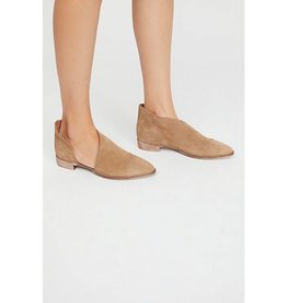 Free People Flat Royale Beige Suede