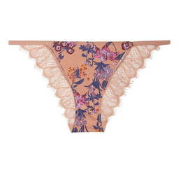 Free People Mocha Floral Undies