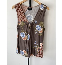 jennifer detrich smith Deletta Taupe Floral Tank