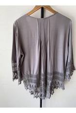 jennifer detrich smith Grey Button Up Lace Blouse Size 1X