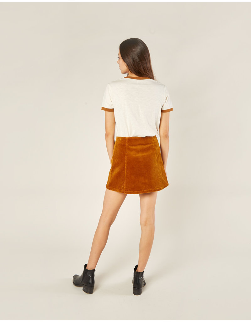 Rylee and Cru Cinnamon Corduroy Skirt