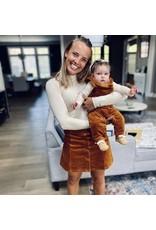 Rylee and Cru Kid Cinnamon Overalls